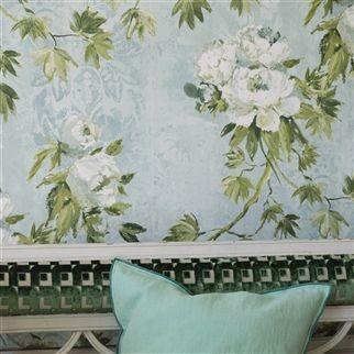 carta parati designers guild floreale. Black Bedroom Furniture Sets. Home Design Ideas