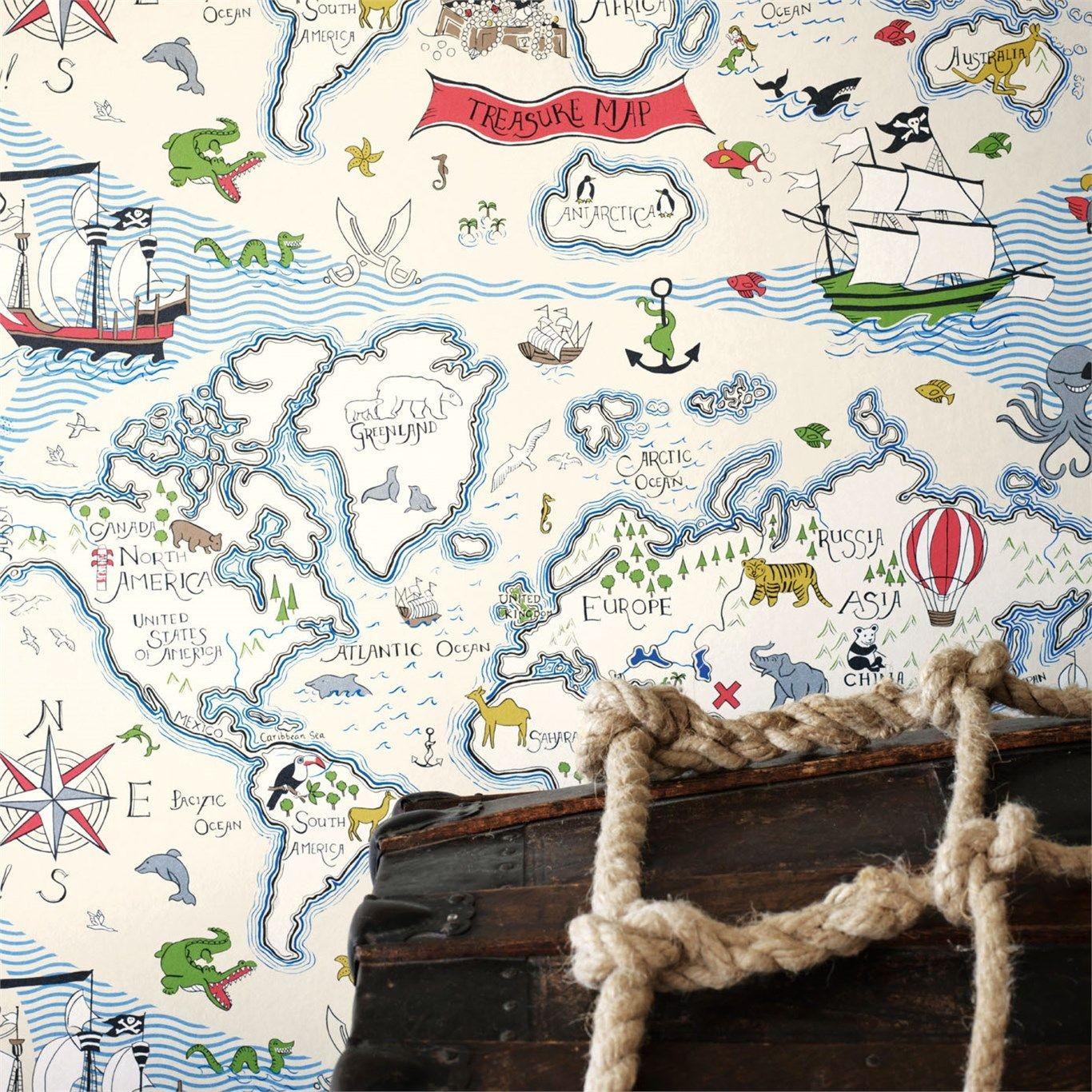 Carta Parati Sanderson Treasure Map
