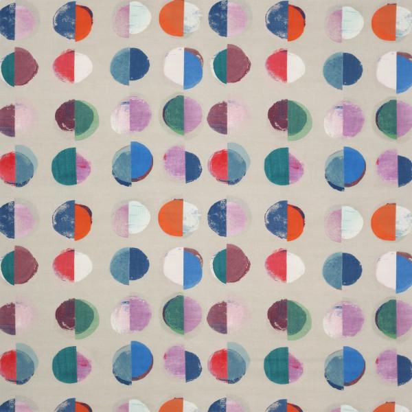 TESSUTO JANE CHURCHILL - OLINDA - J858F-03 BLUE-MULTI