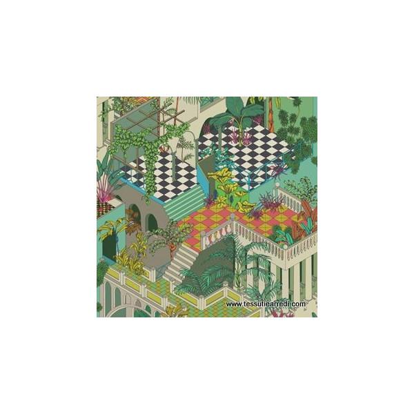 CARTA PARATI COLE & SON - MIAMI - 105/4017 GREEN-CORAL